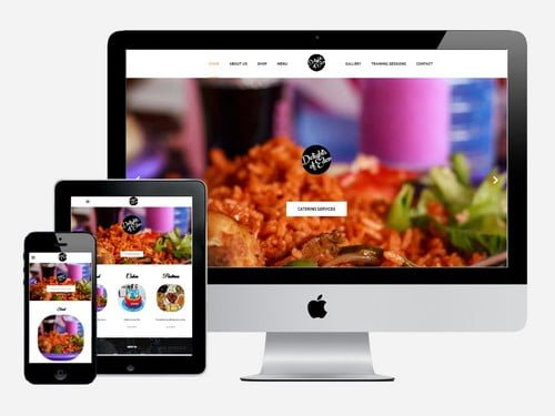 A catering services website designed for Delights Of Eden, Accra - Ghana
