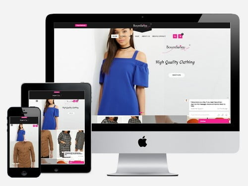 Ecommerce fashion website designed for Boundaries Couture, Accra - Ghana