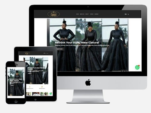 Ecommerce fashion website designed for Clatural, Accra - Ghana