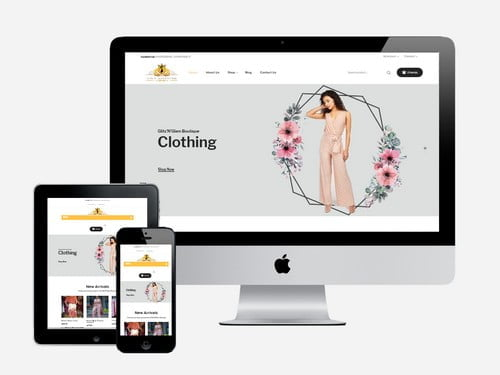 Ecommerce fashion website designed for Glitz 'n' Glam Boutique