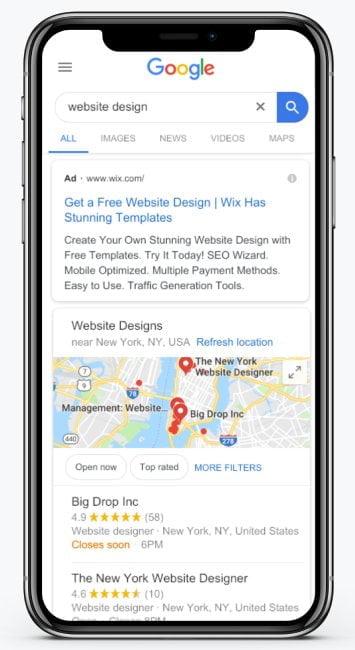 Google Search Ads Mockup