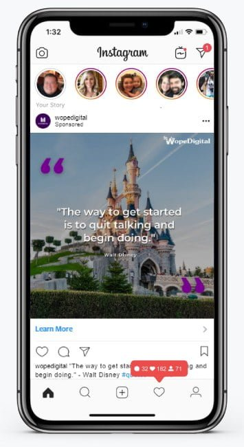 Instagram Advertising Campaign Mockup for WopeDigital