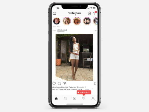 Instagram ad campaign for Style by Charcoal