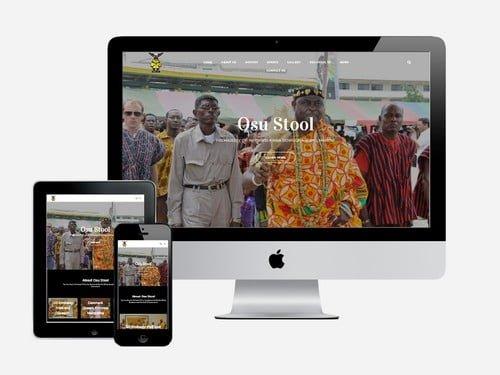 Palace website designed for Osu Stool, Osu, Accra - Ghana