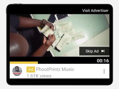 YouTube Advertising Campaign for PhootPrintz Music