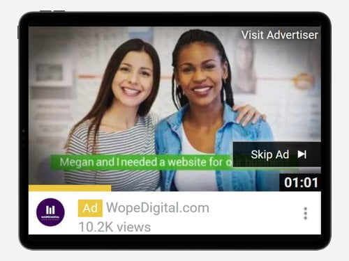 YouTube Advertising Campaign for WopeDigital