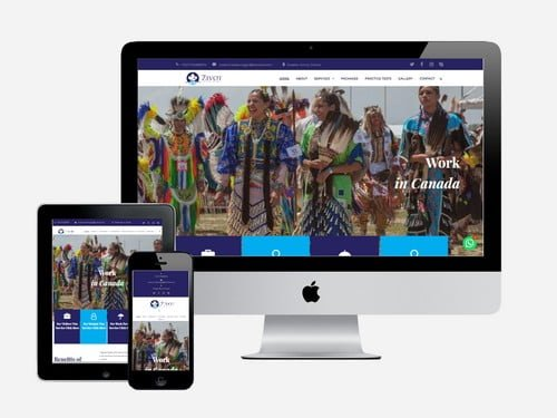 A study and travel website designed for Zivot Consultancy, Accra - Ghana