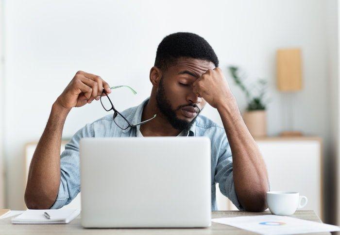 Employee trying to meet deadline