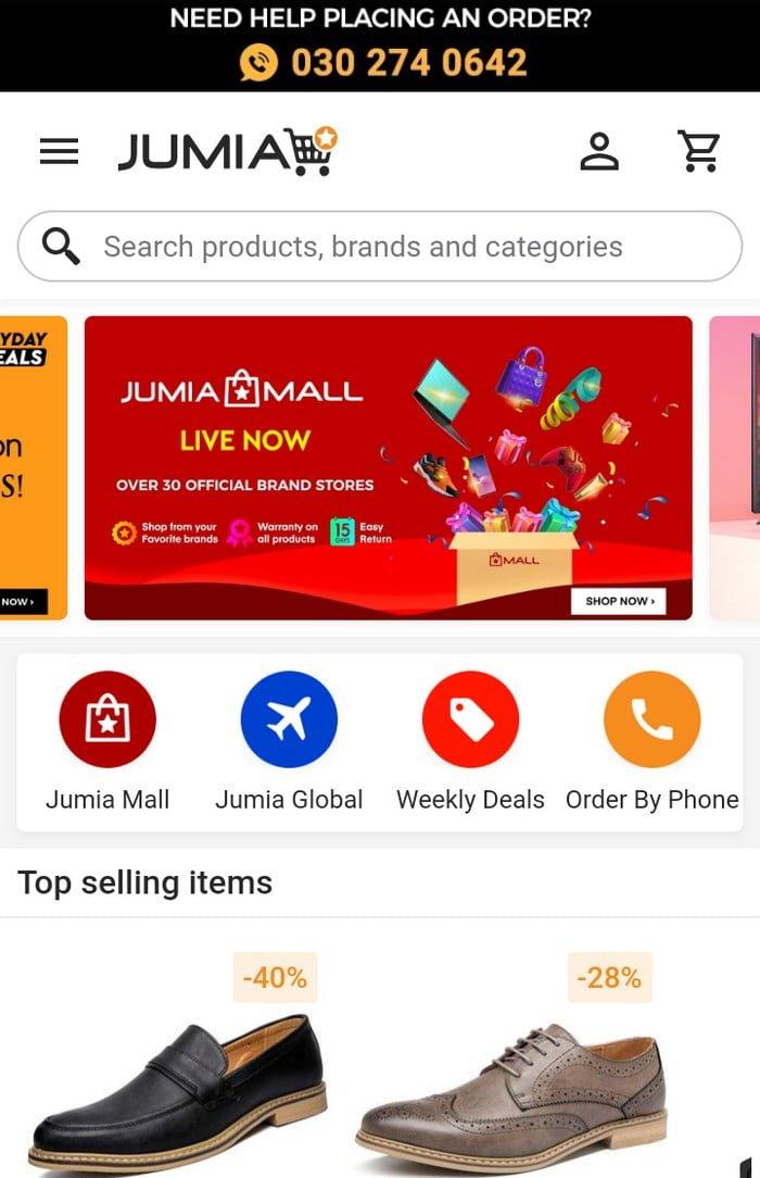 Jumia's Online Shop