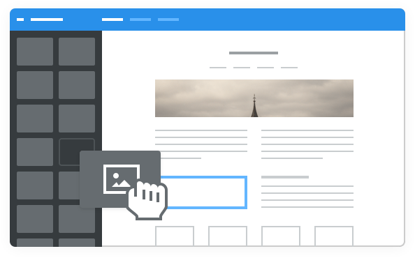 Drag and Drop Sitebuilder