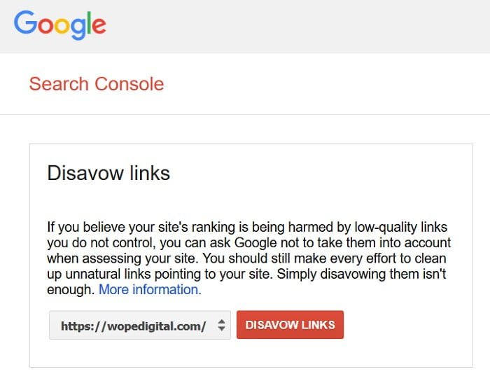 Disavow Links In Google