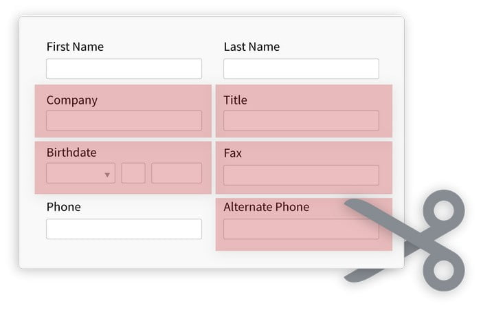 Remove Unneeded Form Fields