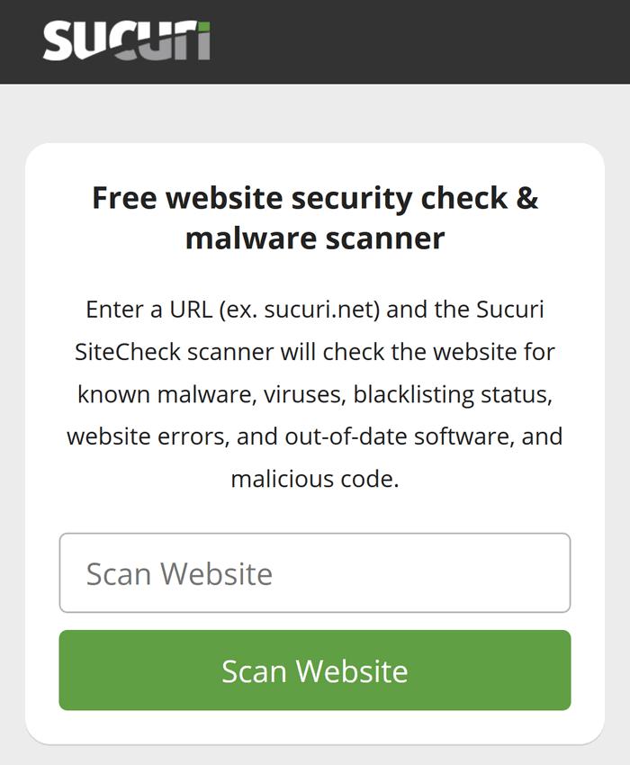 Sucuri Website Scan