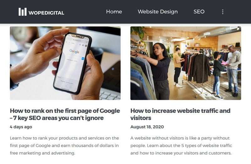 WopeDigital's latest blog posts and articles from just a few days ago are proof that the company is still in business and active
