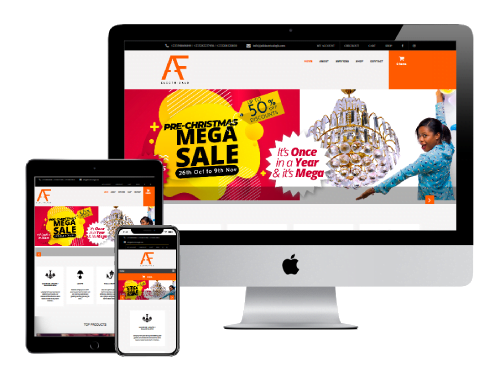 Ecommerce Website Design Project for A F Electricals