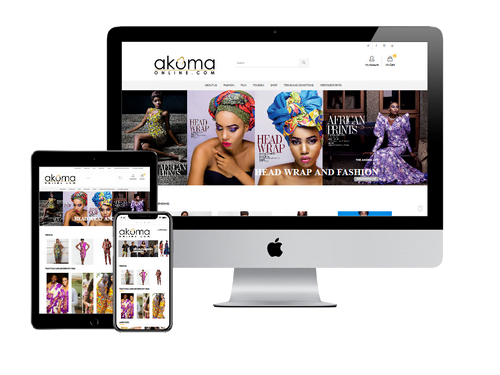 Ecommerce Website Design Project for Akoma Online