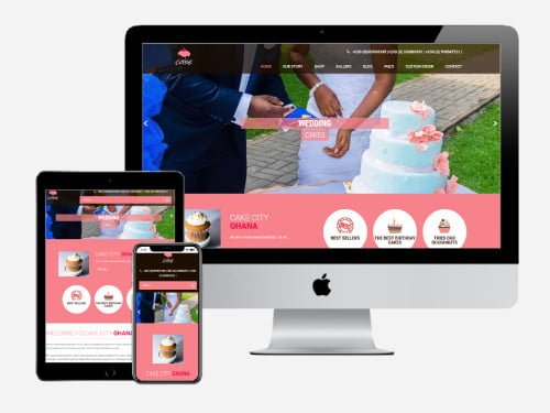 Website Design Project for Cake City Ghana