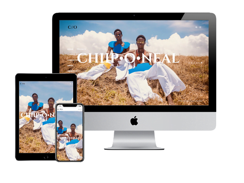 Website Design Project for Chiip .O. Neal
