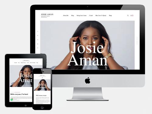 Website Design Project for Josie Aman