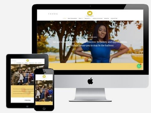Website Design Project for Miss Amofa