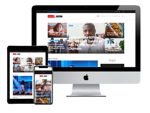 Website Design Project for News From Accra