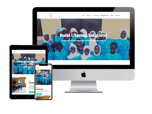 NGO Website Design Project for Rural Literacy Solutions