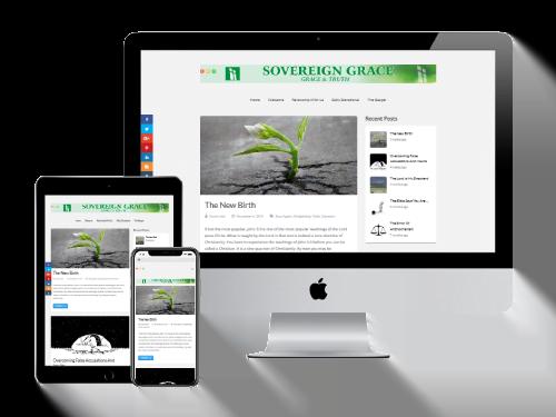 Website Design Project for Sovereign-Grace