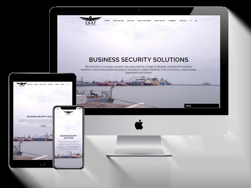 Website Design Project for Zaat Solutions