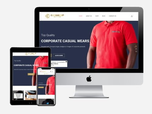 Website Design Project for Casual Up