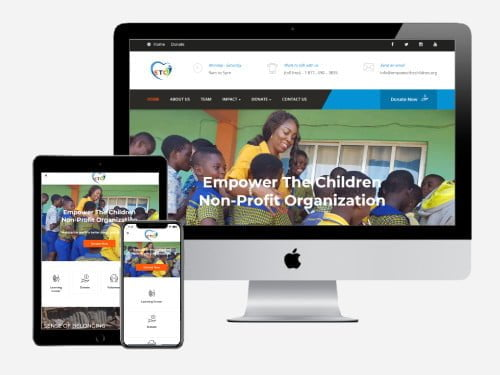 Website Design Project for Empower The Children