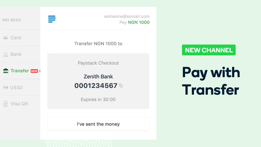 Both Paystack and Flutterwave offer an online bank transfer payment option