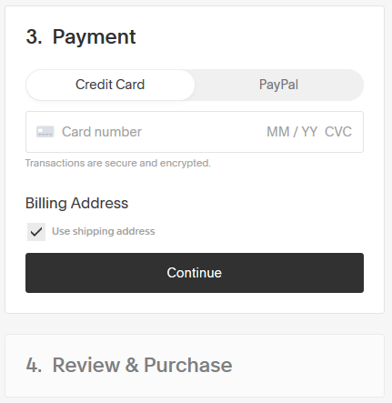 Stripe makes checkout simple, asking for only 3 fields to complete a payment.