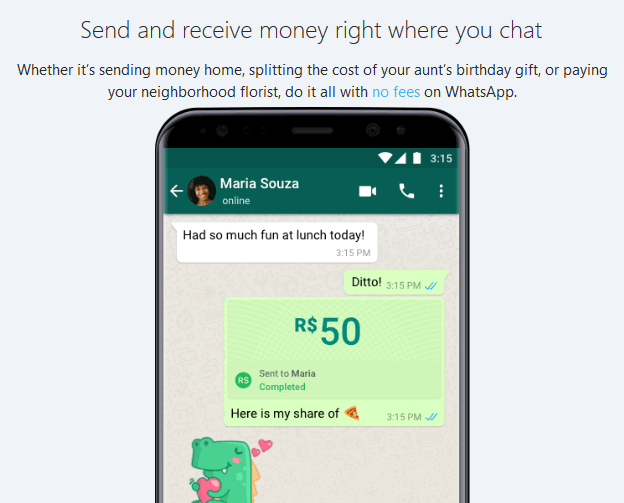 WhatsApp is testing its payment platform in Brazil and India