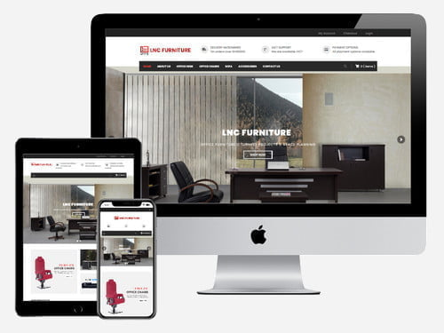 Ecommerce website and online store for LNC Furniture - Accra, Ghana