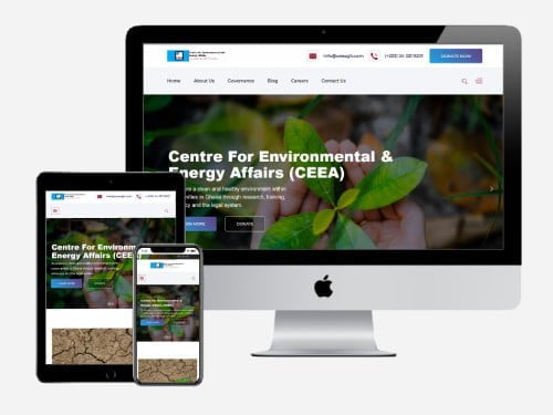 NGO WordPress Web Design for CEEA - Tema, Ghana