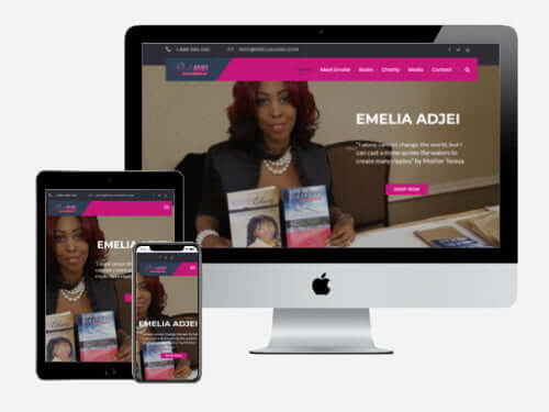 Author Emelia Adjei's website