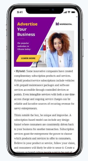 Google Display Advertising Campaign Mockup for Wopedigital