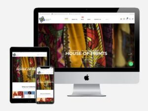 Ecommerce shop created for House of Prints