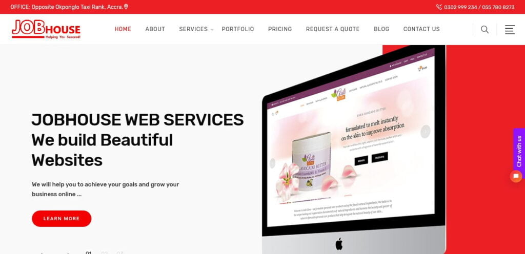 Jobhouse Web Services (previously Indigens Afrique) are a premium web design and digital marketing company.
