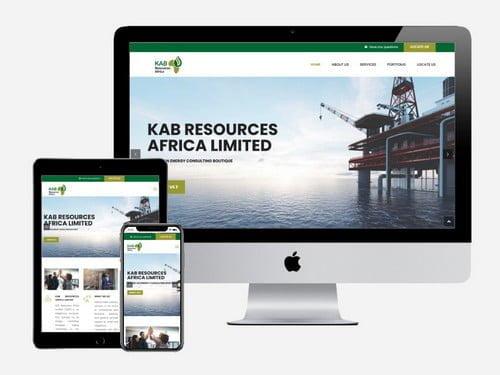 Website Design for KAB Resources Africa