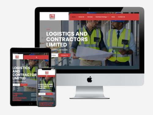 Website Project for Logistics and Contractors
