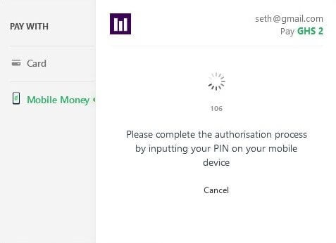 Paystack Mobile Money Awaiting Prompt