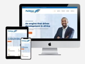 Website designed for the Pelikkan Group