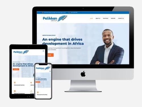 Website designed for the Pelikkan Group