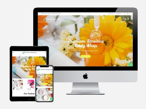 Ecommerce website project for Premium Sensitive Body Shop