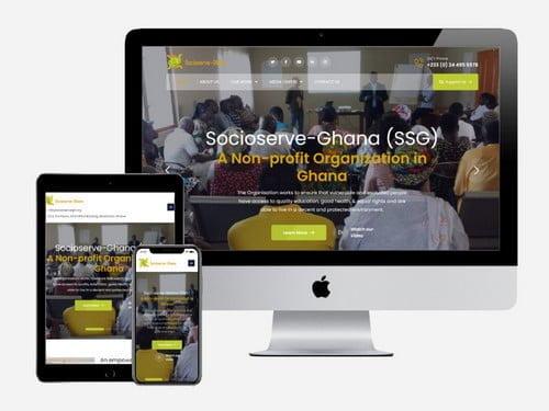 NGO website created for Socioserve Ghana