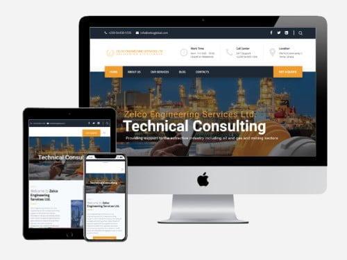 Corporate website designed for Zelco Global Engineering