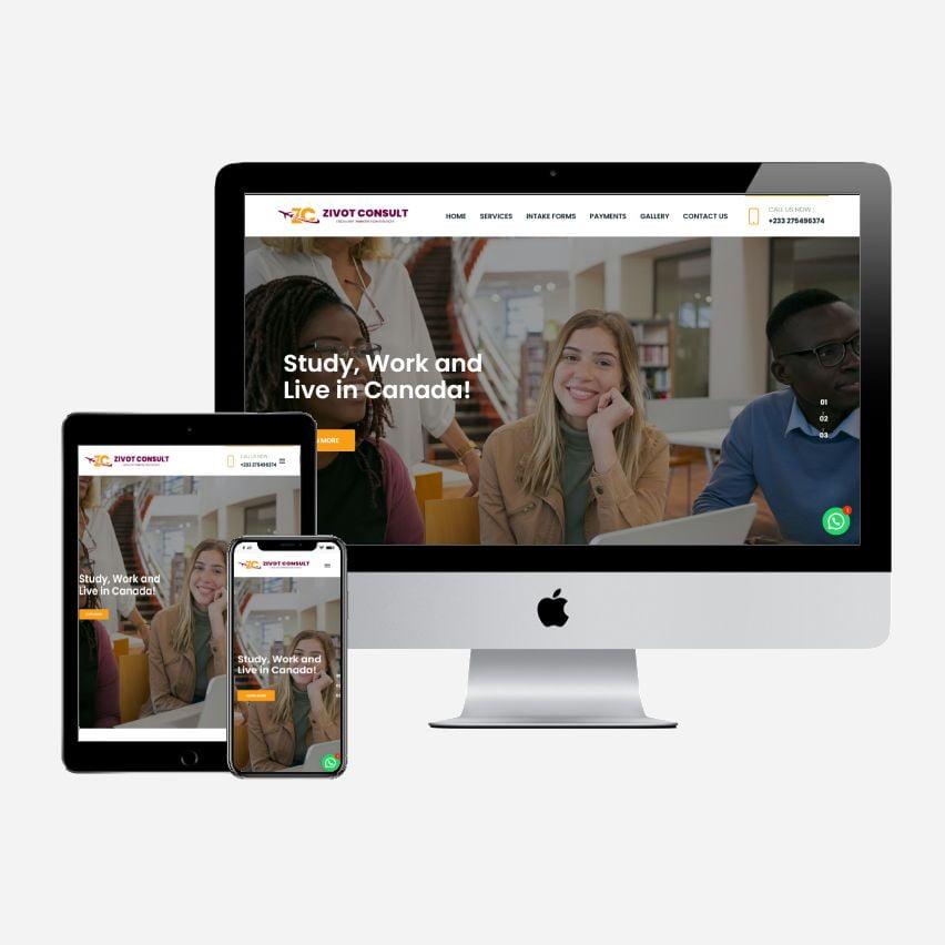 Website Design for Zivot Consult
