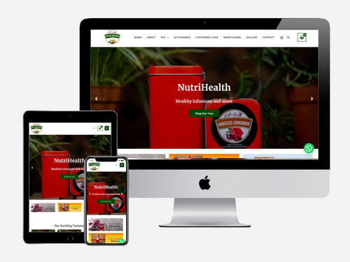 Ecommerce website project for NutriHealth Food and Beverages