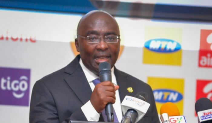 Dr. Bawumia commenting on Ghana's PayPal compliance in 2018